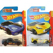 Corvette Racing Hot Wheels 2 car set HW Race 2015 C6 Race Team + Track Star C7.R car in PROTECTIVE CASES