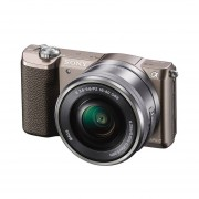 Sony Alpha A5100 ICL systeemcamera Bruin + 16-50mm OSS Zilver Occasion