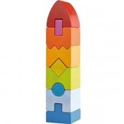 Joc de stivuire din lemn Turn Geometric