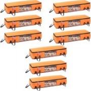 Pretty Krafts Blanket Cover with Side Handles Long Underbed Storage Bag, Storage Organizer, F1523N_Orange9(Orange)
