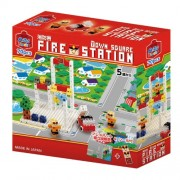 Japan LEGO - Artech ArTec block Town Square Series Fire station (70 pieces) *AF27*