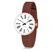 Arne Jacobsen Clocks Armbandsur Roman Vit/rose guld/koppar 30 mm Arne Jacobsen Clocks