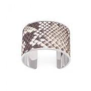 Cleopatra Cuff Bracelet Nat PythonEmbossedPrint Si - Medium