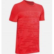 Under Armour Boys' UA Seamless T-Shirt Red YXL