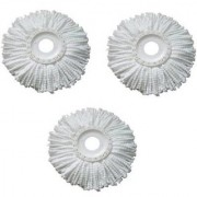 WayMore Microfiber Spin Mop Refill (White Pack of 3)