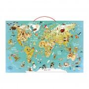 Магнитна карта на света Vilac английски вариант