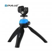 Montura Para Trípode PULUZ Con 360 Grados La Cabeza De Bola Y Abrazadera De Teléfono Por Teléfono Para DSLR Azul