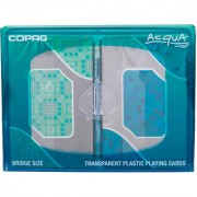 COPAG - ACQUA 100% PURE TRANSPARENT PLASTIC POKER PLAYING CARDS IN TWIN PACKS FOR POKER GAMES / PARTY