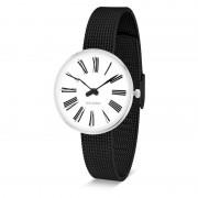 Arne Jacobsen Clocks Armbandsur Roman Vit/matt svart 30 mm Arne Jacobsen Clocks