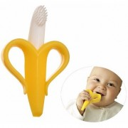 Maxbell Silicone Banana Bendable High Quality Infant Baby Teether Training Toothbrush
