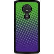 Motorola Moto G7 Power Hardcase hoesje lime paarse cirkels