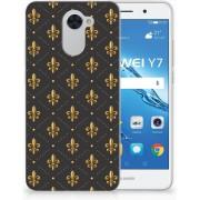 Huawei Y7 (2017) Y7 Prime (2017) Uniek TPU Hoesje Franse Lelie