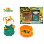 Little Treasures gas stove & sauce pan pretend play toy Camp Set – camping set of 2 pcs battery-powered, foldable...