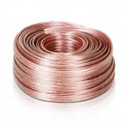 Auna Cable de altavoz 4 x 2,5 mm² transparente 50m