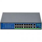 Switch BestNPS NPS1621GBL, 16+2 porturi Gigabit, 1x SFP, PoE, Max. 250W (BestNPS)