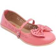 Footrendz Ethnic Bow Touch Bellies For Women(Pink)