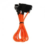 Cablu adaptor BitFenix Alchemy 4-pini Molex la 3x 3-pini 7V, 20cm, orange/black, BFA-MSC-M33F7VOK-RP