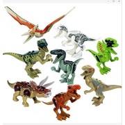 Greshare Dinosaur Toys:T-Rex Double Ridge Dragon Tyrannosaurus Pterosaurs Pirates of The Dragon Triceratops Raptor, 8X Jurassic World Dinosaurs Brick Blocks,8 x Dinosaur Toy Building Blocks