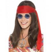 Smiffys Hippie dames verkleed kit deluxe