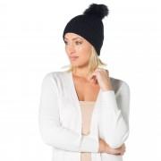 Pia Rossini Chloe, cappello in maglia a coste con pon pon removibile