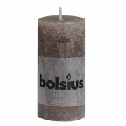 Bolsius Stompkaars rustiek 10x5 cm taupe