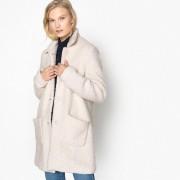 Manteau mi long en mélange laine
