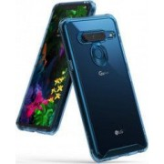 Husa LG G8 ThinQ Ringke FUSION Transparent Albastru