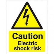 Unbranded Warning Sign Electric Shock Plastic 40 x 30 cm
