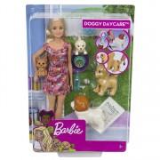 Set de joaca Barbie cu catelusi