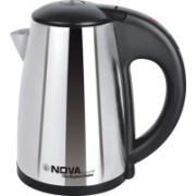 Nova NKT 2740 Stainless steel cordless Electric Kettle(0.8 L, Black)
