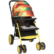 Polly's Pet Multicolor Baby Stroller ; Swivel and Fixed Wheel Foldable Canopy
