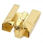 DIY 3D Puzzle modelo de laton Montado Vader TIE Fighter juguete - oro
