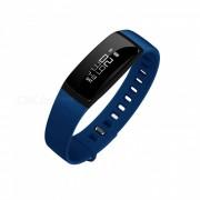 V07 Bluetooth IP67 Smart banda de presion arterial de monitor de ritmo cardiaco - azul