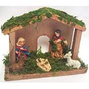 Premier Mini 15Cm Traditional Wooden Christmas Nativity Scene 6 Piece N162219