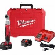 Milwaukee M18 Cordless Right Angle Impact Driver Kit - 1/4Inch Hex, 60 Ft.-Lbs. Torque, 1 Battery, Model 2667-21CT
