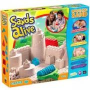 Детски комплект с магически пясък за моделиране Sands Alive Замък, несъхнещ