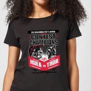 Marvel Thor Ragnarok Champions Poster Dames T-shirt - Zwart - XL - Zwart