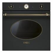 Cuptor incorporabil electric Smeg Colonial SFP805AO, antracit, retro, pirolitic