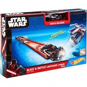 Hot Wheels Star Wars Blast & Battle Lightsaber Launcher [Darth Vader]