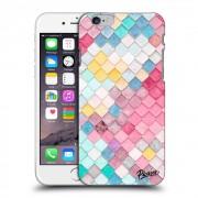 Átlátszó szilikon tok az alábbi mobiltelefonokra Apple iPhone 6/6S - Colorful roof