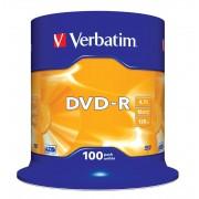 "DVD-R VERBATIM 4.7 GB, 120 min, viteza 16x, Single Layer, spindle, ""Matt Silver"", 100 buc/set"