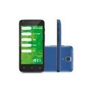 Smartphone Mirage 41S, 3G Android 5.1 Quad Core 8GB Câmera 5MP Tela 4,5, Preto/Azul