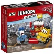 Конструктор ЛЕГО ДЖУНИЪРС - Сервиз за състезателни коли на Гуидо и Луидж, LEGO Juniors, 10732