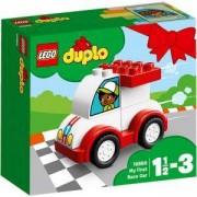 Конструктор Лего Дупло - Моята първа състезателна кола - LEGO DUPLO Creative Play, 10860