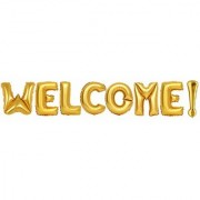 Welcome Foil Balloon for Birthday Decoration Baby Shower Wedding Festival Party