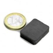 Magnet ferita bloc, 25x20x6 mm, putere 1,2 kg