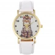 Personalidad De Moda Animal Cat Cinturón Reloj Moda Mujer Cuarzo Reloj