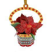 Santoro Ornament de brad Craciun Baubles Craciunita