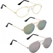 Phenomenal Oval Sunglasses(Clear, Green, Silver)