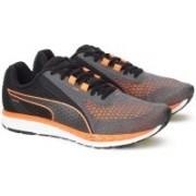 Puma Speed 500 IGNITE 2 Running Shoes For Men(Black, Grey, Orange)